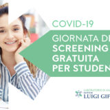 Covid-19: Screening gratuiti per studenti